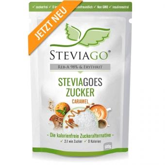 STEVIAGOES Zucker - Caramel 500g - Erythrit und Stevia mit Karamellaroma STEVIAGOES Zucker - Caramel - 1 x 500g