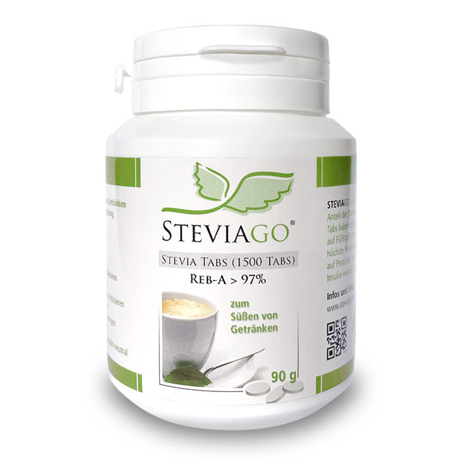 STEVIAGO | Stevia Tabs Nachfüllpackung (1500 Tabs)